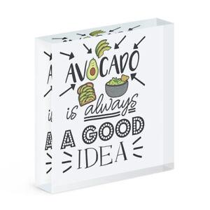 Avocado Is Always A Good Idea Acrylic Photo Block Frame Guacamole Funny Vegan