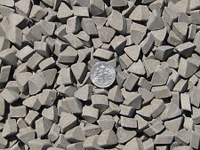 "Ceramic Tumbling Media 3 Lbs. 3/8"" X 1/4"" Abrasive Triangle (DF) dense fast-cut"