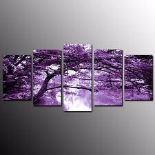 FRAMED Modern Canvas Art Prints Poster Purple World Art Painting Wall Decor-5pcs