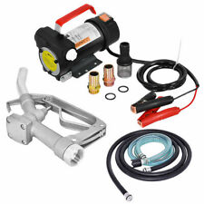 12v 10gpm Electric Diesel Oil And Fuel Transfer Extractor Pump With Nozzle Amp Hose