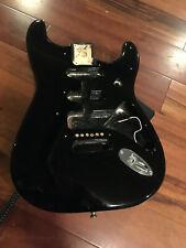 Genuine Fender Strat Standard Stratocaster Black Alder Body