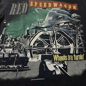 Vintage Rare 1984-85 Reo Speedwagon Wheels Are Tourin'/Turnin' Long Sleeve Shirt