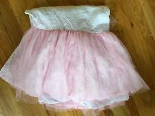Pottery Barn Kids Tulle Pink Tutu Bedskirt Full Ballerina