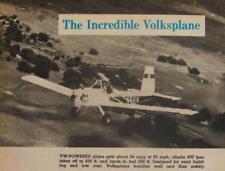 Volksplane Evans VP-1 Homebuilt Aiplane HowTo build PLANS 1969 pictorial