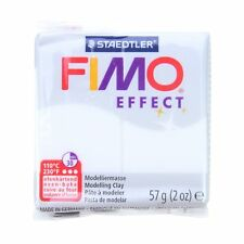 FIMO Effect 57g Translucent White - Clay Modelling Polymer Moulding 56g