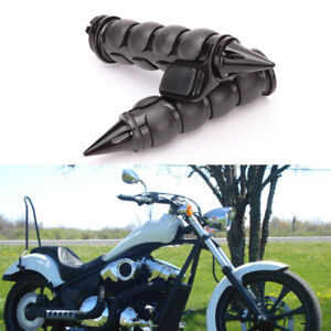 "1"" Black Motorcycle Handle Bar Hand Grips For Harley Davidson Road Street Glide"