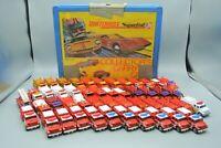 Matchbox Maisto & Siku Firetrucks Lot of 48 Diecast Vehicles + Collector's Case