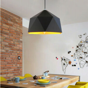Black Pendant Light Kitchen Lamp Lobby Chandelier Lighting Modern Ceiling Lights