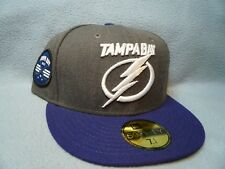 New Era 59fifty Tampa Bay Lightning Sz 7 1/4 BRAND NEW cap hat Hockey Patch TB
