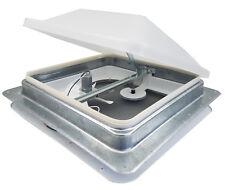 """Ventline 14"""" RV Roof vent 12 volt FAN w/ WHITE lid inner garnish ring V2094SP-30"""