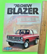 1978 CHEVROLET BLAZER TRUCK COLOR FOLDER BROCHURE wow 4X4's CONVERTIBLE nrMint