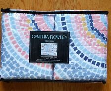 CYNTHIA ROWLEY NEW YORK MULTI-COLOR MOSAIC CIRCLES 2 STANDARD PILLOW SHAMS NEW