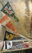 8 Football baseball Vintage Pennant's,  Souvenirs Felt  Flags Banners wool felt