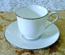 Lenox Hannah Platinum Cup and Saucer Set