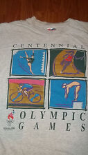 Rare 1996 Olympics Centennial Figure Skating Track Diving Cycling T-Shirt XL