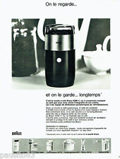 PUBLICITE ADVERTISING 026  1969  Braun moulin à café éléctrique éléctroménager