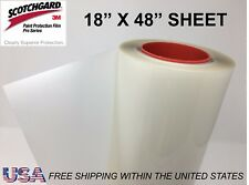 "12/"" x 24/"" Genuine 3M Scotchgard PRO Paint Protection Film Bulk Roll Clear Bra"