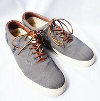 Ralph Lauren Polo Men's Vaughn Blue /Gray Canvas Shoe Sz 10US