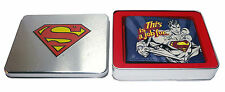 OFFICIAL 'THIS IS A JOB FOR..' SUPERMAN PRINT WALLET IN COOL SUPERMAN TIN (NEW)