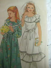 Vintage Butterick 3118 FIRST HOLY COMMUNION DRESS Sewing Pattern Girl Sz 10