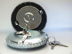 80mm Stainless Steel Anti-Theft Fuel Cap (Lockable Key 2-Pin, Rust-Free) Truck