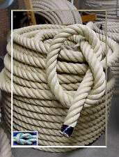 Handlaufseil 35mm Polyhanf Seil, Treppenseil, Ziehtau, Polyhanfseil wetterfest
