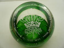 Caithness Glass Paperweight 55/500, 25th Anniversary Prince Wales Ltd Edition