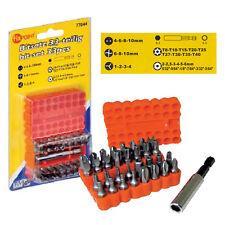 BITSATZ, SPEZIALBITS, Triwing, Vielzahn, Sechskant, Magnet Bithalter usw, 33 tlg