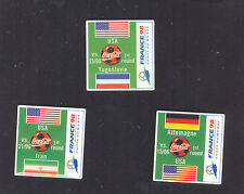 1998 WORLD CUP COCA COLA USA FIRST ROUND MINI SET OF THREE PINS