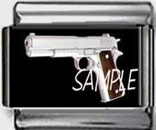 45 CALIBER PISTOL colt GUN police cop gangsta 9mm Italian CUSTOM Charm