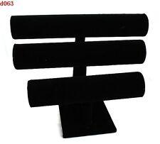 Black Velvet Three Tier Holder  Stand for Bracelet Bangle Watch Jewelry display