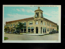 c.1920 Arcade & Post Office Bldg. Manatee Fl post card