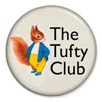 "The Tufty Club 25mm 1"" Pin Badge Button Fluffytail Elsie Mills RoSPA Vintage 60s"