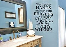 Wash your hands Say your prayers Jesus and Germs are Everywhere Vinyl Wall Decal