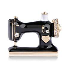 Fashion Brooch Sewing Machine Design Pin Collar Accessory Jewelry Gift for Women