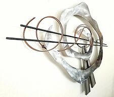 C Jere Vintage Mid Century Metal Wall Sculpture BJ Keith  Large Vortex 44""