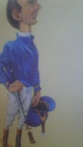 P.E.B. 12x16 inch print caricature of jerry bailey