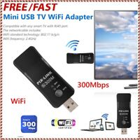 Universal USB TV WiFi Dongle Adapter 300Mbps Wireless Receiver Network Card RJ45