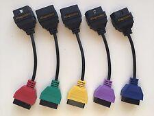 5 Adapter diagnostic cable set fiat alfa multi ecu scan FiatEcuScan MultiEcuScan