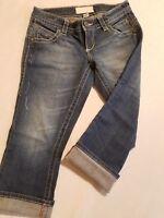 Maurices Women's Capri Pant Dark Wash Stylish Casual Wear Size 1/2 Cute Denim