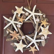Beach Decor Handmade Starfish Driftwood Wreath - Coastal Home Decor