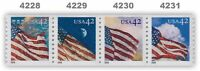 4228-31 4231 4231a American Flags 24/7 42c Coil Strip 4 From 2008 MNH - Buy Now