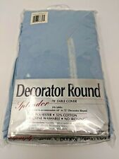 """70"""" Decorator Round Table Cover Cloth Tablecloth - New In Package - BLUE"""