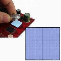 100Pcs 10x10x1mm Silicon Thermal Pad Heatsink Conductive Insulation Paste Pad