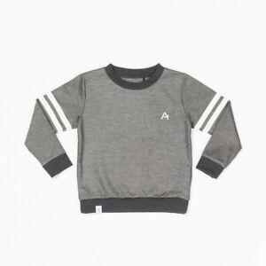 Alba Albakid Jungen Pullover Langarm Sweat Shirt Grau Gr 140 Neu UVP 44,95