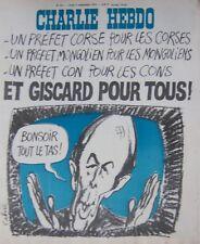 CHARLIE HEBDO No 251 SEPTEMBRE 1975  CABU ET GISCARD POUR TOUS !