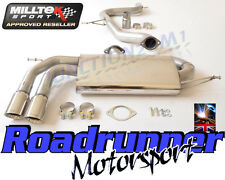 "Milltek Golf GTi MK5 Exhaust 3"" Race System Cat Back Non Resonated Polish Tails"