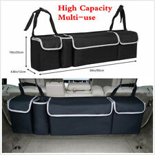 Black High Capacity Multi-use Car Seat Back Organizers Bag Interior Accessories (Fits: Ford Focus)