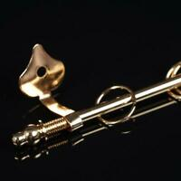 1:12 Miniature Curtain Rod Mini Golden Exquisite Doll house DIY Decor Accessorie