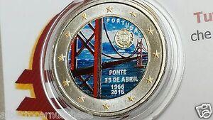 2 euro 2016 PORTOGALLO color farbe kleur cor coleur ponte Portugal Португалия
